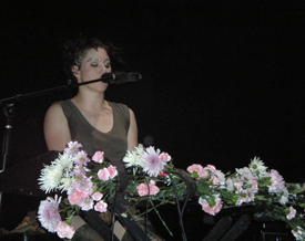 Amanda Palmer with a wee orb.