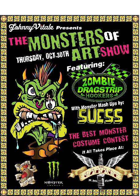 Monsters of Art at the Garage Oct 30th
