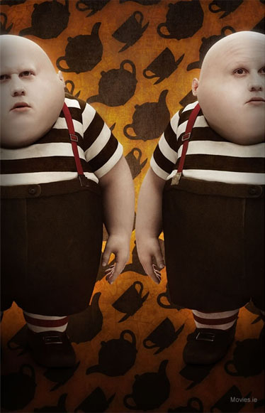 tweedledee and tweedledum in burton's Alice