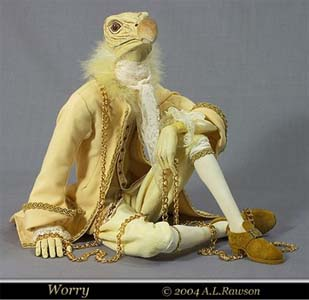 Worry - sculpture polymer and epoxy by Amy l. Rawson