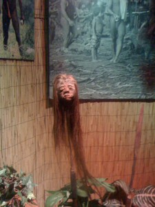 shrunken head at Ripley's St. Augustine FL