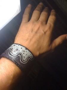 Amoeba Cuff Bracelet by Calan Ree
