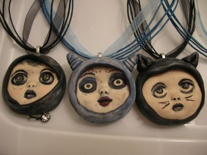 doll head pendants