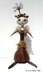 parlore mixed media art doll